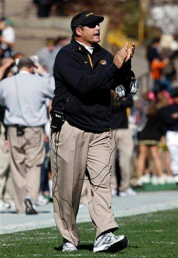 Missouri head coach Gary Pinkel directs his team against Colorado in the second quarter of an NCAA college football game in Boulder, Colo., on Saturday, Oct. 31, 2009. (AP Photo/David Zalubowski) By David Zalubowski
