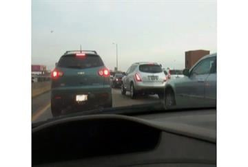 News 4's Chris Nagus is parked on Highway 40, caught in the jam. By Bryce Moore