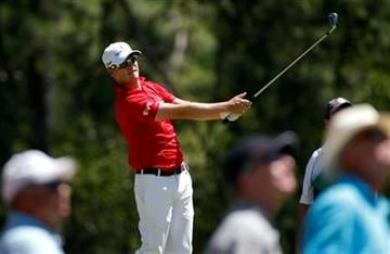 Zach Johnson hits a shot on the 17th hole during a practice round for the PGA Championship golf tournament Wednesday, Aug. 10, 2011, at the Atlanta Athletic Club in Johns Creek, Ga. (AP Photo/Charlie Krupa) By Charlie Krupa
