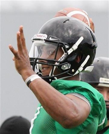 Missouri quarterback James Franklin throws during football practice Thursday, Aug. 4, 2011, in Columbia, Mo. (AP Photo/St. Louis Post-Dispatch, Chris Lee) By Chris Lee