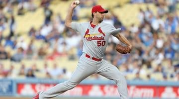 LOS ANGELES, CA - JUNE 26:  Adam Wainwright #50 of the St. Louis Cardinals pitches in the first inning against the Los Angeles Dodgers at Dodger Stadium on June 26, 2014 in Los Angeles, California.  (Photo by Joe Scarnici/Getty Images) By Joe Scarnici