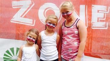 My kids: Ally, Sammi and Lilly Siville at Fair St. Louis By Stephanie Baumer