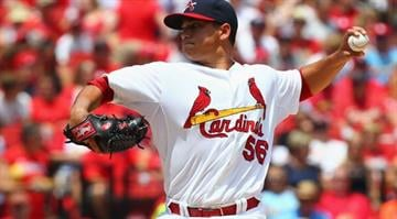 ST. LOUIS, MO - JULY 6: Starter Marco Gonzales #56 of the St. Louis Cardinals pitches against the Miami Marlins in the first inning at Busch Stadium on July 6, 2014 in St. Louis, Missouri. (Photo by Dilip Vishwanat/Getty Images) By KMOV Web Producer