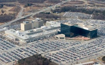 The National Security Agency (NSA) headquarters at Fort Meade, Maryland, as seen from the air, January 29, 2010.      AFP PHOTO/Saul LOEB (Photo credit should read SAUL LOEB/AFP/Getty Images) By SAUL LOEB