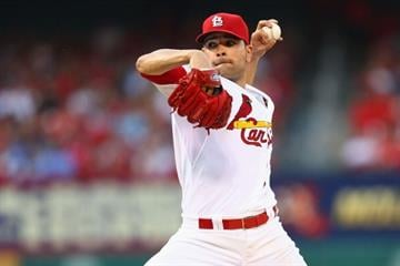 ST. LOUIS, MO - JUNE 3:  Starter Jaime Garcia #54 of the St. Louis Cardinals pitches against the Kansas City Royals in the third inning at Busch Stadium on June 3, 2014 in St. Louis, Missouri.  (Photo by Dilip Vishwanat/Getty Images) By Dilip Vishwanat