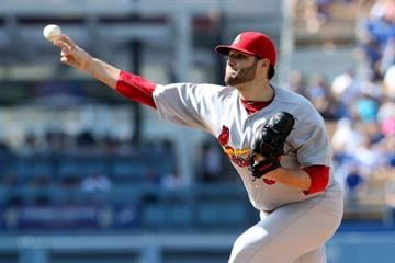 LOS ANGELES, CA - JUNE 28: Lance Lynn #31 of the St. Louis Cardinals throws a pitch against the Los Angeles Dodgers at Dodger Stadium on June 28, 2014 in Los Angeles, California.  (Photo by Stephen Dunn/Getty Images) By Stephen Dunn