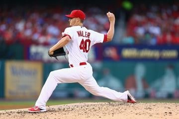 ST. LOUIS, MO - JULY 10: Starter Shelby Miller #40 of the St. Louis Cardinals pitches against the Pittsburgh Pirates in the third inning at Busch Stadium on July 10, 2014 in St. Louis, Missouri.  (Photo by Dilip Vishwanat/Getty Images) By Dilip Vishwanat