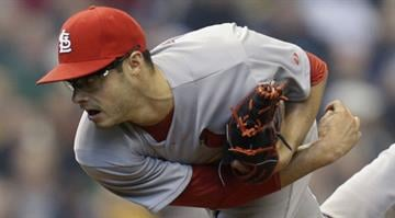 Joe Kelly gets the ball Friday night in Milwaukee as he returns from the DL to pitch in the park where he injured his hamstring in April By KMOV Web Producer