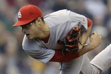 MILWAUKEE, WI - APRIL 16: Joe Kelly #58 of the St. Louis Cardinals pitches during the first inning against the Milwaukee Brewers at Miller Park on April 16, 2014 in Milwaukee, Wisconsin. (Photo by Mike McGinnis/Getty Images) By Mike McGinnis