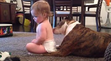 """""""Captured the sweetest moment of my daughter and pup the other night. They are the cutest together!"""" By Stephanie Baumer"""