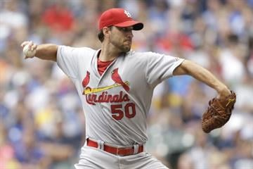 MILWAUKEE, WI - JULY 12: Adam Wainwright #50 of the St. Louis Cardinals will start Tuesday's All-Star Game for the National League team. (Photo by Mike McGinnis/Getty Images) By Mike McGinnis