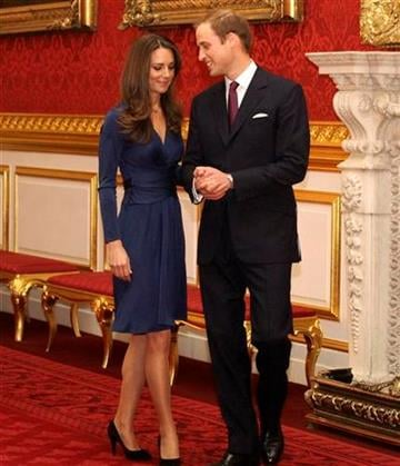 Britain's Prince William and his fiancee Kate Middleton arrive for a media photocall, media at St. James's Palace in London, Tuesday Nov. 16, 2010, after they announced their engagement. The couple are to wed in 2011. (AP Photo/Sang Tan) By Sang Tan
