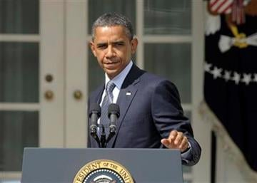 President Barack Obama walks away from the podium after making a statement in the Rose Garden of the White House in Washington, Monday, Sept. 19, 2011. (AP Photo/Susan Walsh) By Susan Walsh