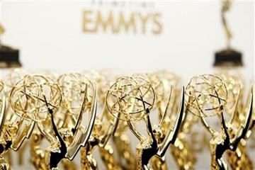 Emmy statues are seen backstage at the 63rd Primetime Emmy Awards on Sunday, Sept. 18, 2011 in Los Angeles. (AP Photo/Matt Sayles) By Matt Sayles
