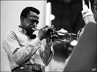 "Miles Davis during a recording session in 1959 for ""Kind of Blue"""