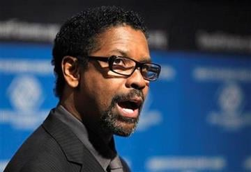 Actor Denzel Washington talks about a public service advertising (PSA) campaign for the Boys and Girls Clubs of America, Wednesday, Sept. 21, 2011, at the National Press Club in Washington. (AP Photo/Luis M. Alvarez) By Luis Alvarez