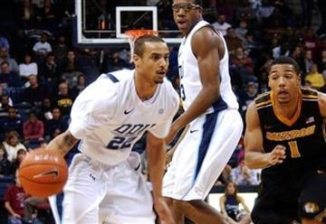 Old Dominion's Marquel De Lancey (22) drives past Missouri's Phil Pressey (1) during the first period of an NCAA college basketball game, Friday, Dec. 30, 2011, in Norfolk, Va. (AP Photo/David B. Hollingsworth) By David B. Hollingsworth