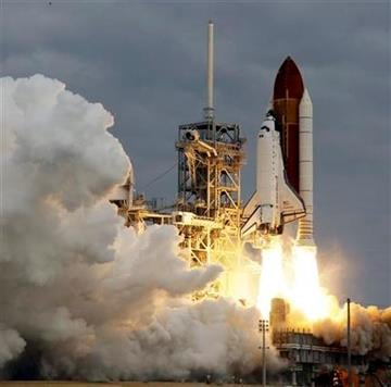 The space shuttle Endeavour lifts off from Kennedy Space Center in Cape Canaveral, Fla., Monday, May 16, 2011. The space shuttle Endeavour began a 14-day mission to the international space station. (AP Photo/John Raoux) By John Raoux