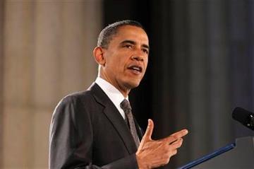 President Barack Obama speaks at the National Hispanic Prayer Breakfast in Washington, Thursday, May 12, 2011. (AP Photo/Charles Dharapak) By Charles Dharapak