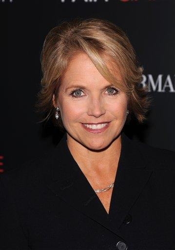 """FILE - In this Oct. 6, 2010 file photo, Katie Couric attends a Cinema Society screening of """"Fair Game"""" at the Museum of Modern Art, in New York. (AP Photo/Peter Kramer, file) By Peter Kramer"""