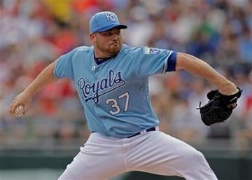 Kansas City Royals starting pitcher Sean O'Sullivan delivers a pitch during the second inning of a baseball game against the St. Louis Cardinals Sunday, May 22, 2011, in Kansas City, Mo. (AP Photo/Charlie Riedel) By Charlie Riedel