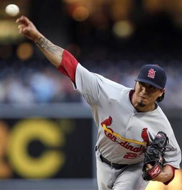 St. Louis Cardinals starting pitcher Kyle Lohse delivers against the San Diego Padres in the first inning of a baseball game Monday, May 23, 2011, in San Diego. (AP Photo/Lenny Ignelzi) By Lenny Ignelzi