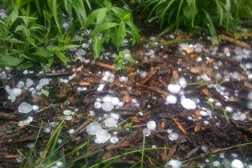 Hail in Carlinville, IL. By KMOV Web Producer