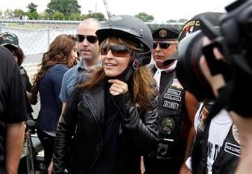 Sarah Palin, former GOP vice presidential candidate and Alaska governor, arrives at the beginning of Rolling Thunder at the Pentagon Sunday, May 29, 2011, during the Memorial Day weekend in Washington. (AP Photo/Alex Brandon) By Alex Brandon