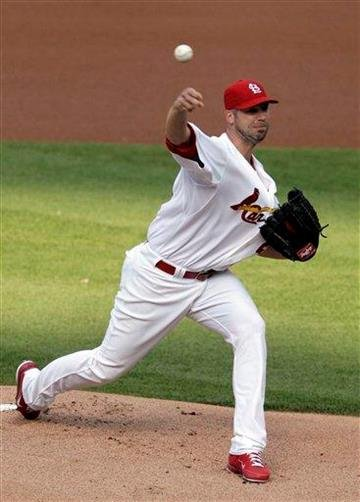 St. Louis Cardinals starting pitcher Chris Carpenter throws against the San Francisco Giants in the first inning of a baseball game, Tuesday, May 31, 2011 in St. Louis.(AP Photo/Tom Gannam) By Tom Gannam