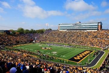 COLUMBIA, MO - OCTOBER 19:  A general view of Faurot Field/Memorial Stadium during the game between the Florida Gators and the Missouri Tigers on October 19, 2013 in Columbia, Missouri.  (Photo by Jamie Squire/Getty Images) By Jamie Squire