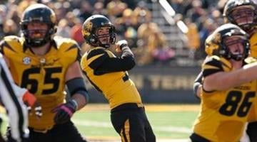 Missouri kicker Andrew Baggett watches one of his five field goals sail through the uprights during the fourth quarter of an NCAA college football game against Florida Saturday, Oct. 19, 2013, in Columbia, Mo. (AP Photo/L.G. Patterson) By L.G. Patterson