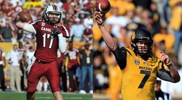 Backup QBs Dylan Thompson (left) and Maty Mauk (right) lead their respective teams into a game that will be crucial in determining who will win the SEC East