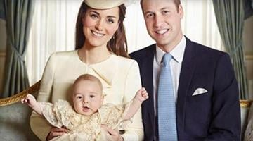 Prince William, Kate, Duchess of Cambridge and Prince George are photographed in the Morning Room at Clarence House in London on Oct. 23, 2013. / JASON BELL/CAMERA PRESS/REDUX By Brendan Marks