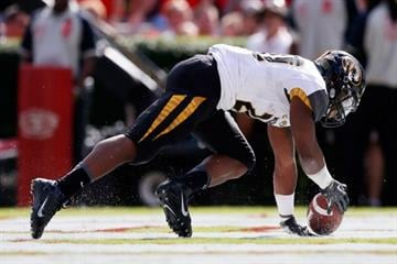 ATHENS, GA - OCTOBER 12:  Henry Josey #20 of the Missouri Tigers scores a touchdown against the Georgia Bulldogs at Sanford Stadium on October 12, 2013 in Athens, Georgia.  (Photo by Kevin C. Cox/Getty Images) By Kevin C. Cox