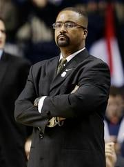 Missouri head coach Frank Haith watches play against Texas A&M during the first half of an NCAA college basketball game at the Southeastern Conference tournament, Thursday, March 14, 2013, in Nashville, Tenn. (AP Photo/Dave Martin) By Dave Martin