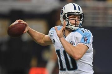 ST. LOUIS, MO - NOVEMBER 3: Jake Locker #10 of the Tennessee Titans throws against the St. Louis Rams in the first quarter at the Edward Jones Dome on November 3, 2013 in St. Louis, Missouri.  (Photo by Michael Thomas/Getty Images) By Michael Thomas