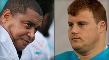 Jonathan Martin, left, and Richie Incognito, right / CBS By Brendan Marks