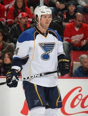 DETROIT, MI - JANUARY 23:  Jason Arnott #44 of the St. Louis Blues skates against the Detroit Red Wings during their NHL game at Joe Louis Arena on January 23, 2012 in Detroit, Michigan.  (Photo by Dave Sandford/Getty Images) By Dave Sandford