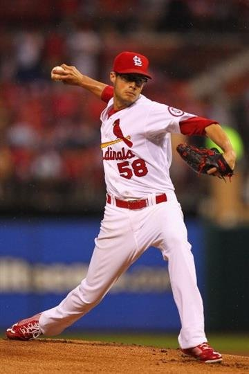 ST. LOUIS, MO - JUNE 5: Starter Joe Kelly #58 of the St. Louis Cardinals pitches against the Arizona Diamondbacks at Busch Stadium on June 5, 2013 in St. Louis, Missouri.  (Photo by Dilip Vishwanat/Getty Images) By Dilip Vishwanat