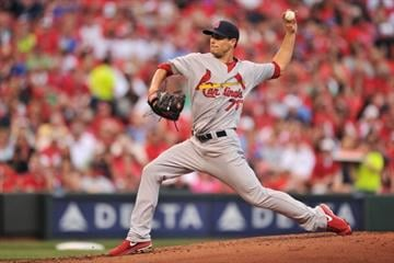 CINCINNATI, OH - JUNE 8:  Tyler Lyons #70 of the St. Louis Cardinals  pitches in the second inning against the Cincinnati Reds at Great American Ball Park on June 8, 2013 in Cincinnati, Ohio.  (Photo by Jamie Sabau/Getty Images) By Jamie Sabau