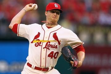 ST. LOUIS, MO - JUNE 22: Starter Shelby Miller #40 of the St. Louis Cardinals pitches against the Texas Rangers at Busch Stadium on June 22, 2013 in St. Louis, Missouri.  (Photo by Dilip Vishwanat/Getty Images) By Dilip Vishwanat