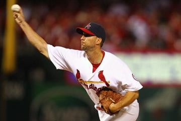 ST. LOUIS, MO - JUNE 23: Starter Adam Wainwright #50 of the St. Louis Cardinals pitches against the Texas Rangers at Busch Stadium on June 23, 2013 in St. Louis, Missouri.  (Photo by Dilip Vishwanat/Getty Images) By Dilip Vishwanat