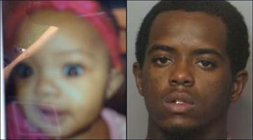 Police say Bryan Grant (right) abducted 11-month-old Demi Grant (left) from the Jennings apartment of the child's mother on Wednesday. By Brendan Marks