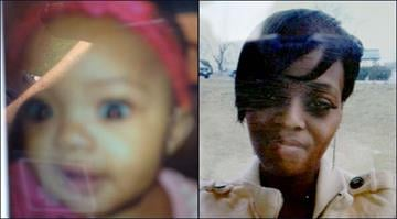 Police say Bryan Grant kidnapped his 11-month-old daughter (left) and the child's mother (right) from their apartment in Jennings on Wednesday. By Brendan Marks