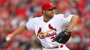 ST. LOUIS, MO - JULY 5:  Starter Jake Westbrook #35 of the St. Louis Cardinals pitches against the Miami Marlins at Busch Stadium on July 5, 2013 in St. Louis, Missouri.  (Photo by Dilip Vishwanat/Getty Images) By Dan Mueller