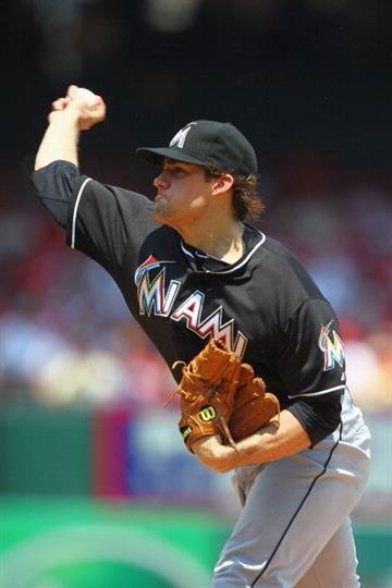 ST. LOUIS, MO - JULY 6: Starter Nate Eovaldi #24 of the Miami Marlins pitches against the St. Louis Cardinals at Busch Stadium on July 6, 2013 in St. Louis, Missouri. (Photo by Dilip Vishwanat/Getty Images) By Dilip Vishwanat