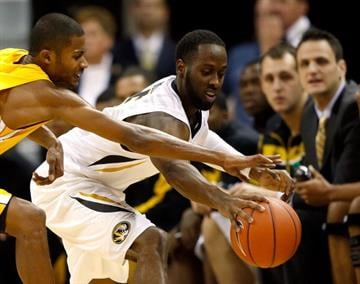 COLUMBIA, MO - NOVEMBER 13:  Keion Bell #5 of the Missouri Tigers grabs a loose ball during the game against the Alcorn State Braves at Mizzou Arena on November 13, 2012 in Columbia, Missouri.  (Photo by Jamie Squire/Getty Images) By Jamie Squire