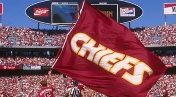 17 Sep 1995:  Kansas City Chiefs fan waves a flag before a game against the Oakland Raiders held at Arrowhead Stadium in Kansas City, Missouri.  The Chiefs won the game, 23-17. Mandatory Credit: Stephen Dunn  /Allsport By Stephen Dunn