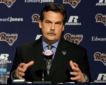 Jeff Fisher speaks during a news conference where he was officially introduced as the new head football coach of the St. Louis Rams NFL team, in St. Louis, Tuesday, Jan. 16, 2012. (AP Photo/Tom Gannam) By Tom Gannam