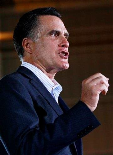 Republican presidential candidate, former Massachusetts Gov. Mitt Romney, speaks at the National Gypsum Company in Tampa, Fla., Tuesday, Jan. 24, 2012. (AP Photo/Charles Dharapak) By Charles Dharapak